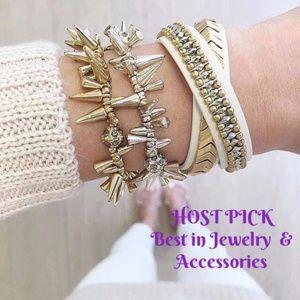 💖HP💖 stella & dot gilded double wrap bracelet
